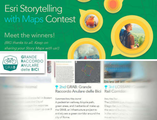 "Esri ha reso noti i vincitori del contest ""Storytelling with maps"": GRAB vince il secondo premio"