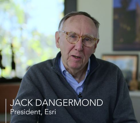 foto profilo di Jack Dangermond, fondatore di ESRI