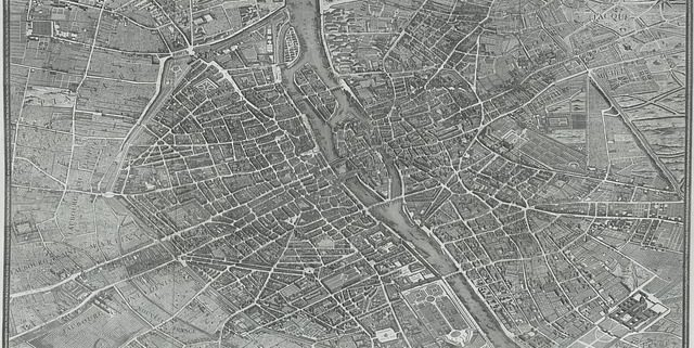 Antica mappa di Parigi