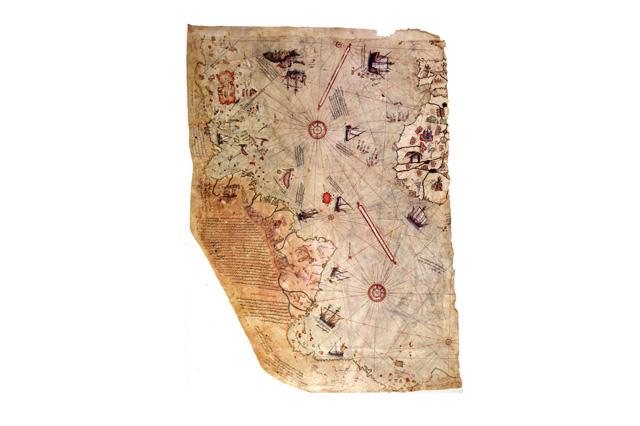 Mappa cartacea di Piri Reis