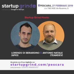 Startup Grind a Pescara, Antonio Natale e Lorenzo di Berardino
