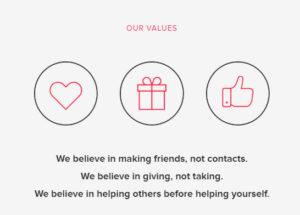 i valori di Startup Grind