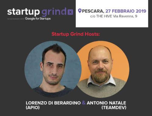 Antonio Natale tra gli speaker di Startup Grind a Pescara