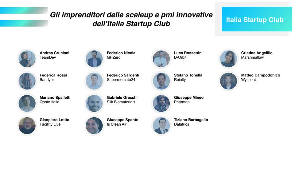 lista nuovi membri 2019 di Italia Startup Club