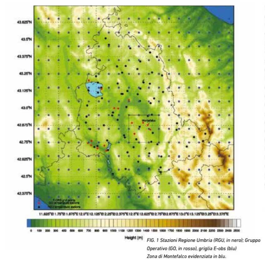 Distribuzione rete agrometereologica regionale implementata per il progetto Smart Meteo
